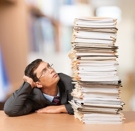 office physical pressure paper: Document Stack