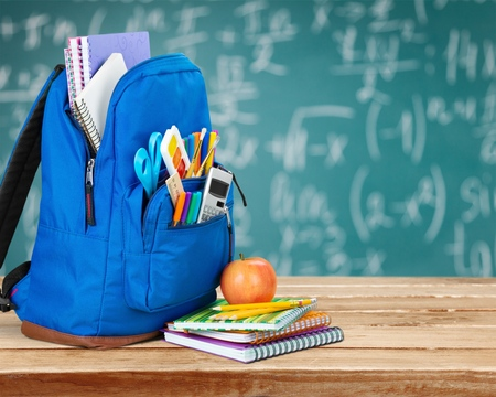 School, bag, rucksack. Stock Photo