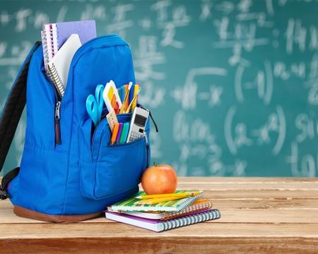 rucksack ': School, bag, rucksack. Stock Photo