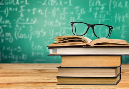 cramming: Students, hipster, books. Stock Photo