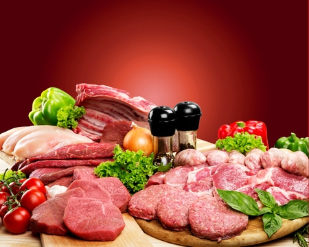 freshness: Carne, Frescura, Carnicer�a. Foto de archivo