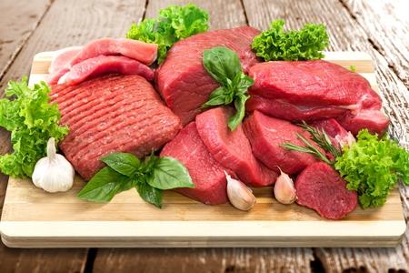 frescura: Carne, Frescura, Carnicería. Foto de archivo