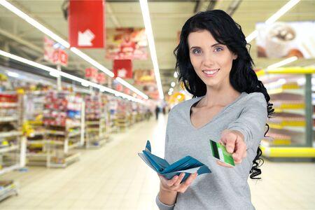 shopping card: Credit Card, Paying, Women.