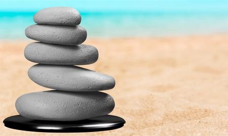 stability: Stone, Stability, Balance. Stock Photo