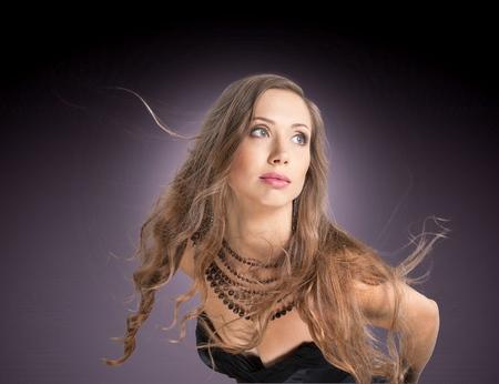 人間の髪の毛: 女性は、ジュエリー、毛髪。