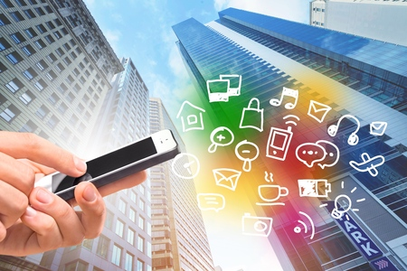 phone business: Smart Phone, Mobile Phone, Business. Stock Photo