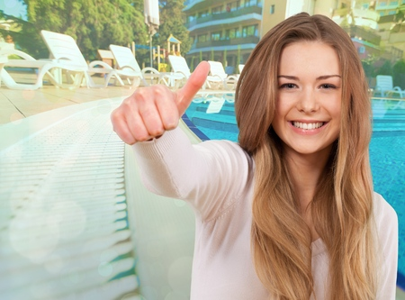 bigger picture: Thumbs Up Stock Photo