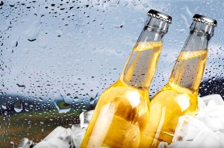 jugos: Cerveza, botella de cerveza Foto de archivo