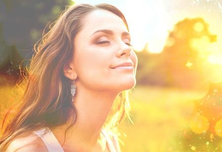 pretty woman: Vrouwen, gezonde levensstijl Stockfoto