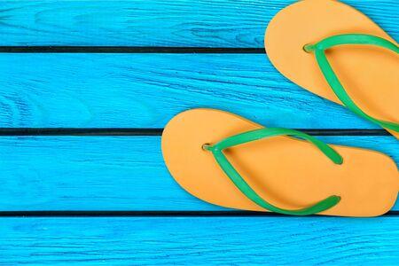 sandalia: Flip-flop, Sandalia, Verano. Foto de archivo