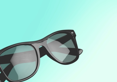 wayfarer: Sunglasses, Isolated, wayfarer. Stock Photo