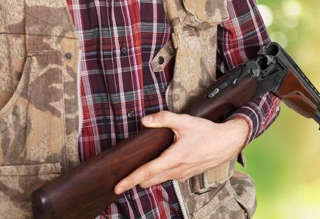 fusil de chasse: Chasse, Hunter, Shotgun.