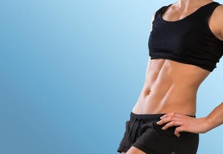 cuerpo femenino: M�sculo abdominal, Mujer, Culturismo.