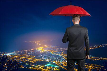 Man, rain, rich.