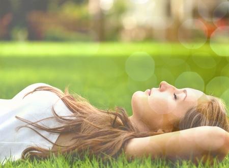 Femmes, Relaxation, papillon.