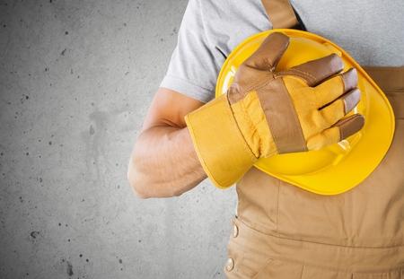 obrero: Guante, trabajo, pe�n. Foto de archivo