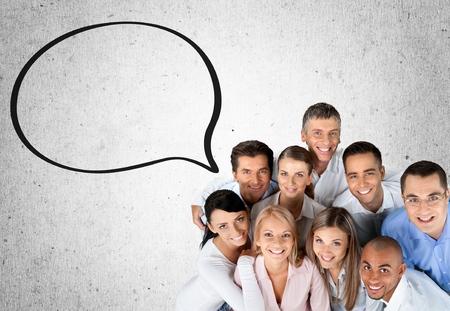amistad: Usuarios, Amistad, Grupo de personas. Foto de archivo