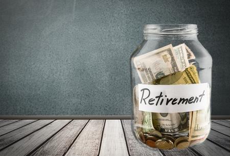 jar: Jubilación, Pensión, moneda. Foto de archivo