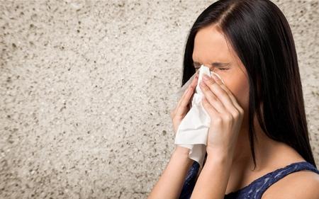 flu virus: Estornudos, Resfriado y gripe, virus de la gripe. Foto de archivo