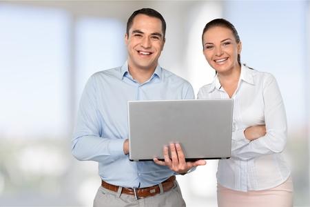 training business: Business, Computer, Training. Stock Photo
