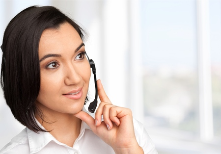 handsfree device: Customer Service Representative, Service, On The Phone.