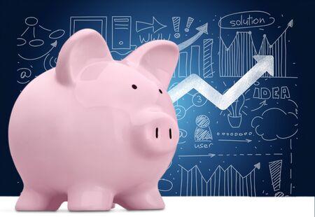 paying: Piggy Bank, Paying, Savings.
