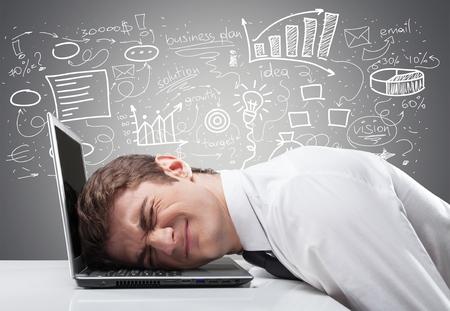 El estrés, el trabajo, el dolor. Foto de archivo - 42108202