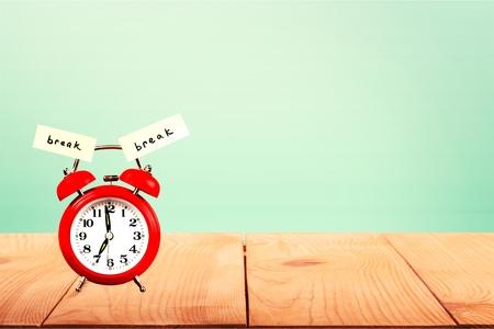 12 o'clock: Break, Coffee Break, Resting.