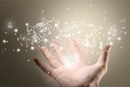 Globe, Earth, World Map.