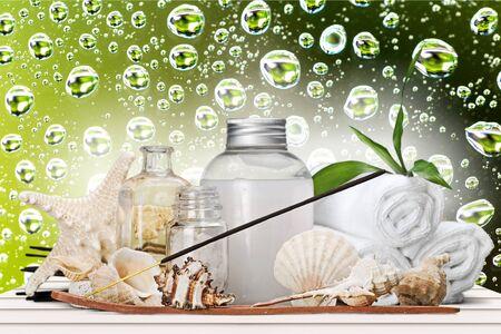 body oil: Aromatherapy, Incense, Spa Treatment. Stock Photo