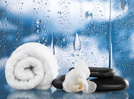 remedial: Spa Treatment, Health Spa, Towel. Stock Photo