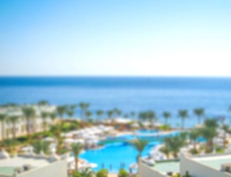 tourist resort: Tourist Resort, Hotel, Swimming Pool. Stock Photo