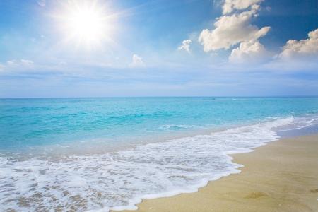 panoramic beach: Beach, Sea, Australia. Stock Photo