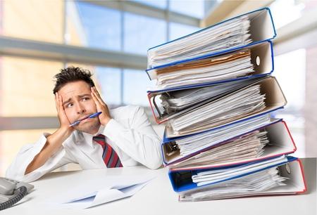 Emotional Stress, Business, Office. 版權商用圖片 - 42142056