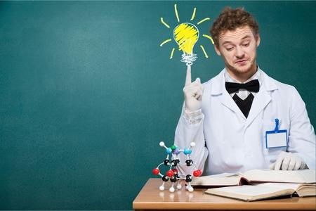 scientist: Genius, mad, scientist.