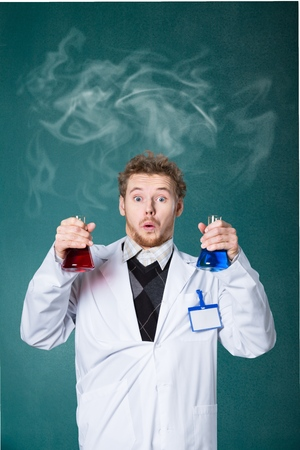studding: Chemistry, test, experiment. Stock Photo