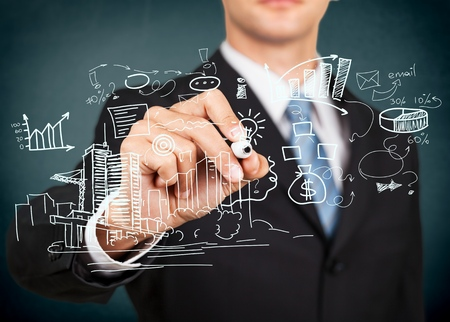 people management: Business, process, control. Stock Photo