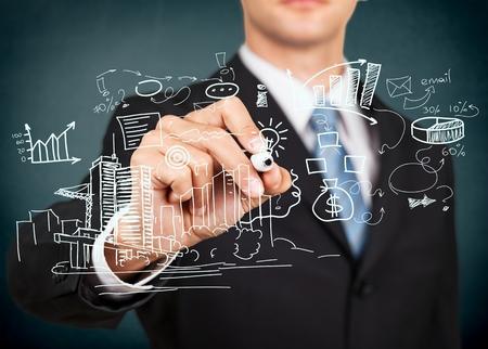 gestion empresarial: Negocios, de procesos, control. Foto de archivo