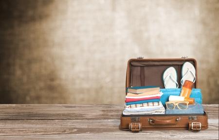 reise retro: Reise, Tasche, Tourist.