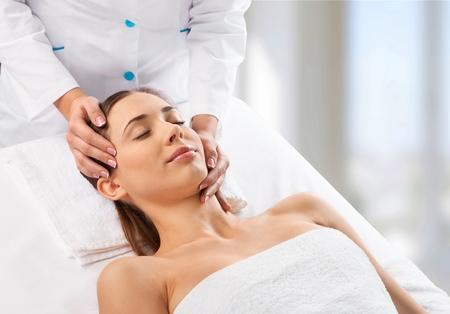 얼굴, 치료, 여자.
