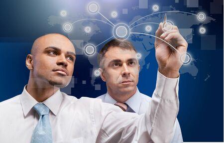 mathematician: Innovation, Leadership, Industry. Stock Photo