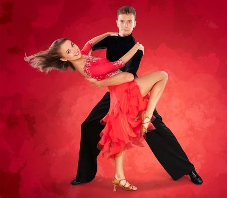 heterosexual: Dancing, Couple, Heterosexual Couple. Stock Photo