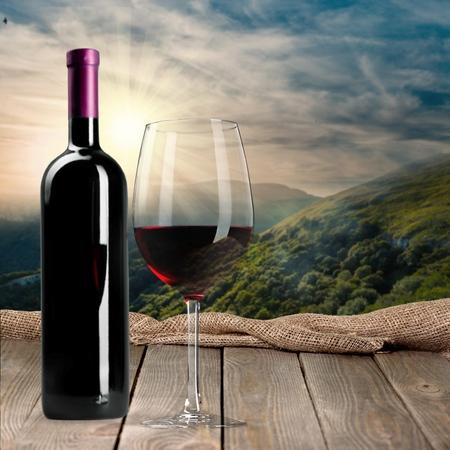 ワインの瓶、ワイン ・ ボトル。