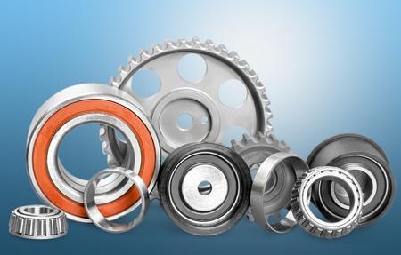 bearing: Bearing, metal, closeup. Stock Photo