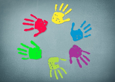 handprints: Autism, day, world.