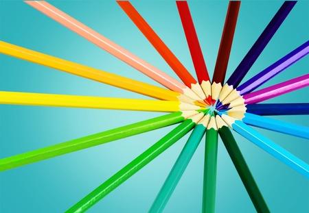 leíró szín: Ceruza, leíró szín, szín kép. Stock fotó
