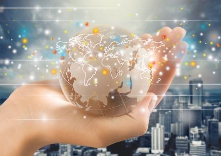 conexiones: La globalizaci�n, la conexi�n, conecte. Foto de archivo
