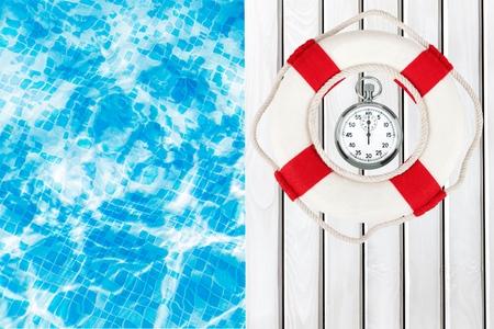 buoy: Life Belt, Protection, Buoy. Stock Photo