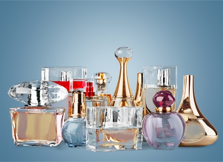perfume bottle: Perfume, Scented, Perfume Sprayer. Stock Photo