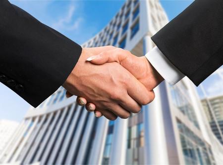 built: Business, Handshake, Built Structure. Stock Photo